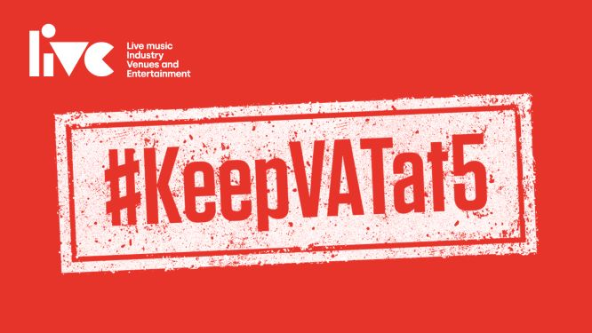 #KeepVATat5 campaign logo by LIVE